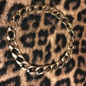 90s Vintage - Gold Tone Chain Linked Necklace